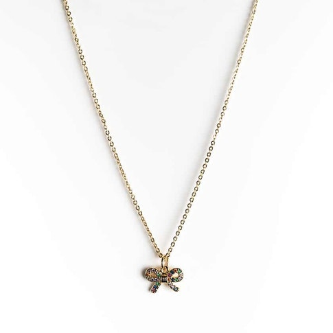 Ia Bon Symbol Necklace – Gold Bow