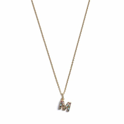 Ia Bon Initial Pendant Necklace – Gold In Z